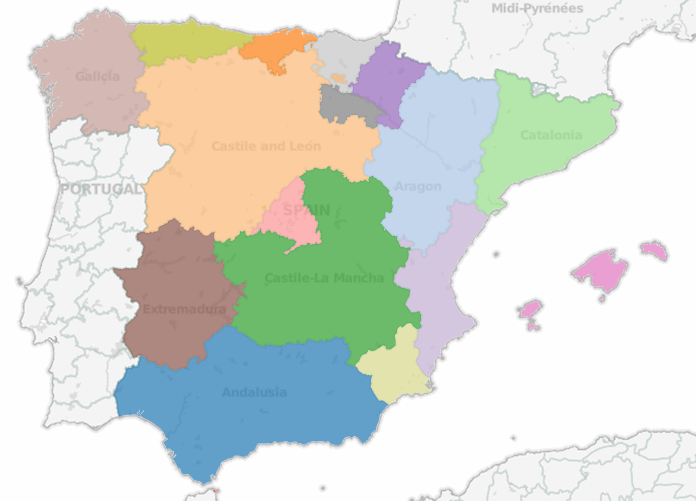 Spain Autonomous Communities  Tableau Mapping