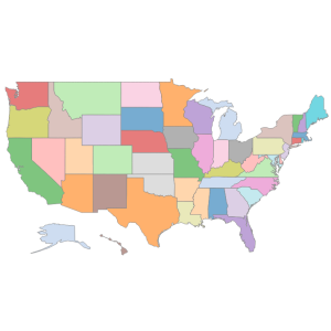 USA States Offset AK HI Tableau Mapping - Map us states in tableau